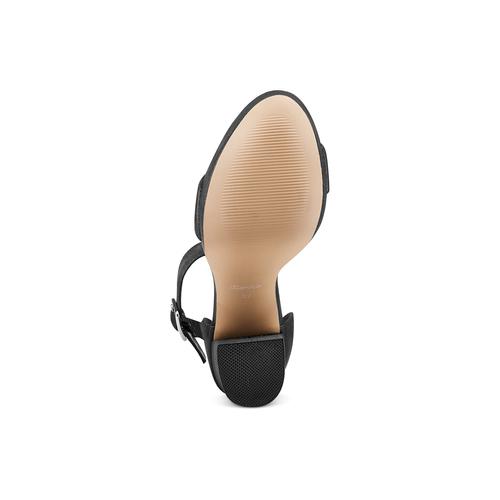 Sandali con tacco insolia, nero, 769-6165 - 19