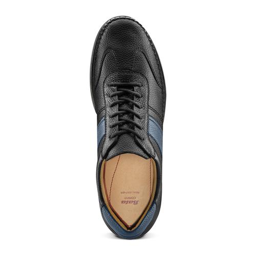 Stringate casual bata-comfit, nero, 854-6115 - 17