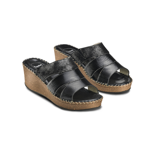 Ciabatte Comfit bata-comfit, nero, 774-6108 - 16