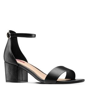 Sandali con tacco largo bata-rl, nero, 761-6334 - 13