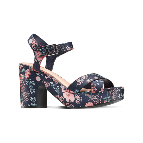 Sandali con inserti floreali bata-rl, rosa, 769-5328 - 13