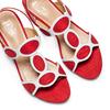 Sandali con tacco basso insolia, rosso, 669-5297 - 26
