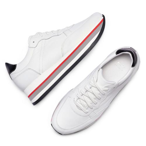 Sneakers Platform bata, bianco, 644-1102 - 26