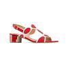 Sandali con tacco basso insolia, rosso, 669-5297 - 13