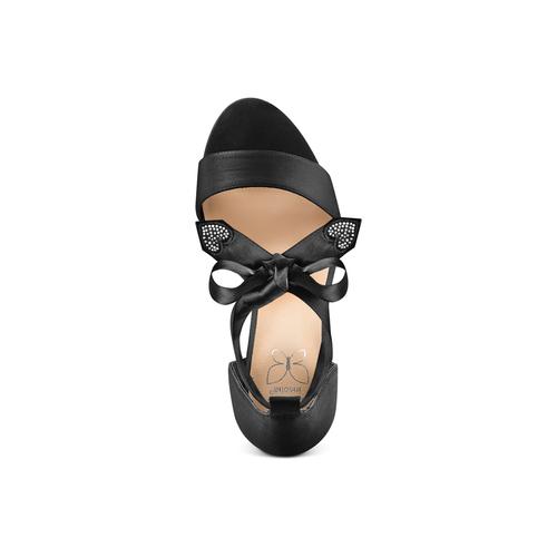 Sandali con fiocco insolia, nero, 769-6285 - 17