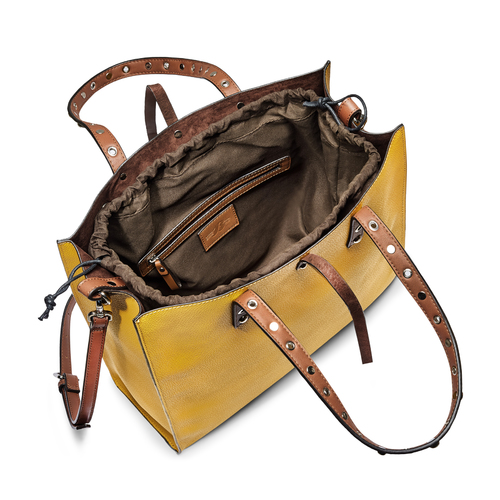 Shopper da donna bata, giallo, 961-8296 - 16