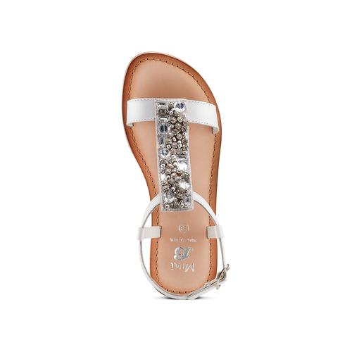 Sandali in pelle mini-b, bianco, 364-1128 - 17