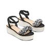 Sandali con perline bata, nero, 669-6283 - 16