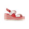 Sandali con zeppa bata, rosso, 661-5282 - 13