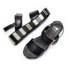 Sandali Platform bata, nero, 661-6308 - 26