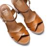 Sandali con tacco alto insolia, marrone, 761-3254 - 26