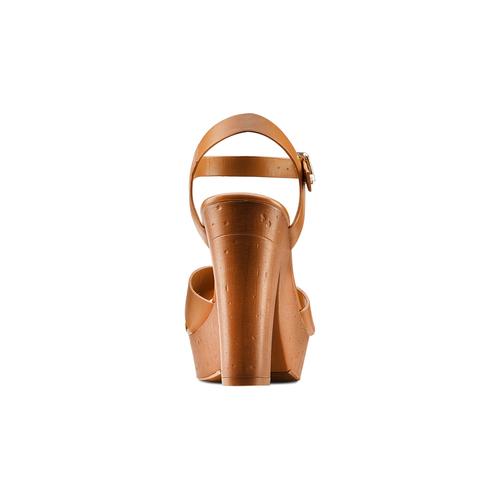 Sandali con tacco alto insolia, marrone, 761-3254 - 15