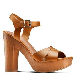 Sandali con tacco alto insolia, marrone, 761-3254 - 13