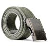 Cintura in canvas bata, verde, 959-7336 - 26