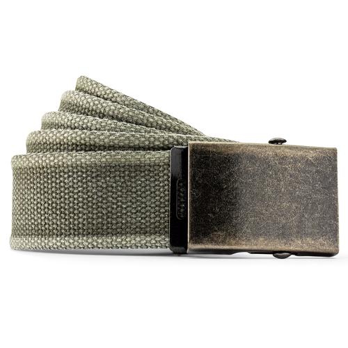 Cintura in canvas bata, verde, 959-7336 - 13