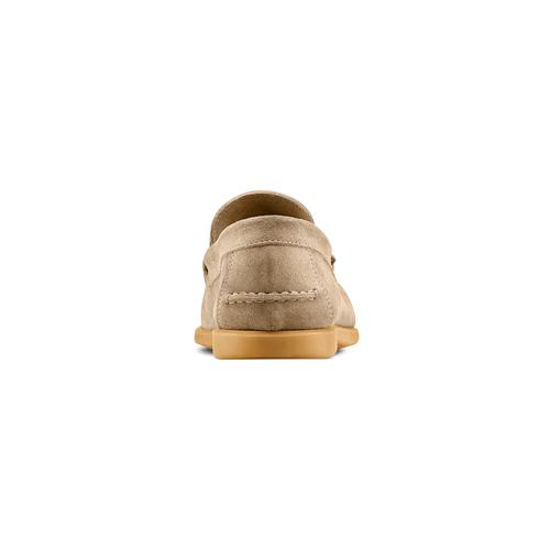 Mocassini in suede bata, beige, 853-8143 - 15