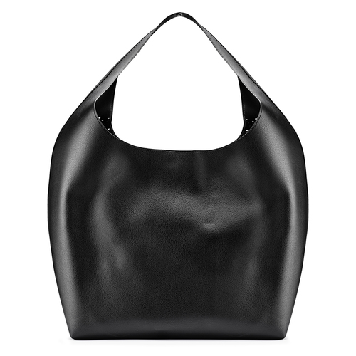 Hobo bag con trafori bata, nero, 961-6270 - 26