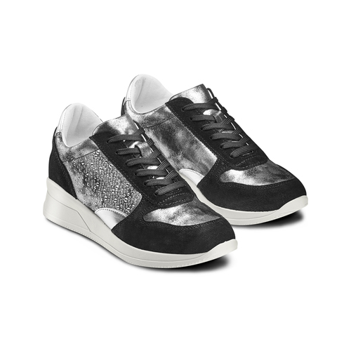 Sneakers Casual bata, nero, 523-6459 - 16