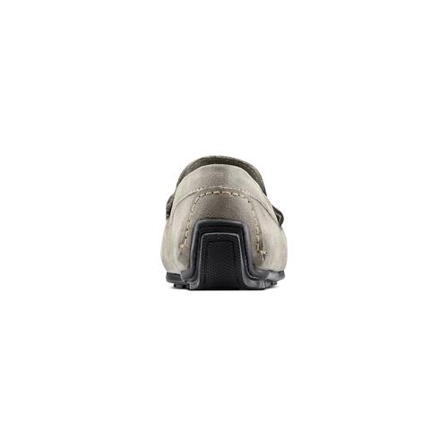 Mocassini in suede bata, grigio, 853-2171 - 15