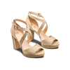 Sandali con tacco insolia, beige, 769-8263 - 16
