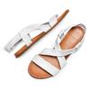 Sandali in pelle bata, bianco, 564-1443 - 26