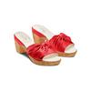 Ciabatte con tacco bata-touch-me, rosso, 664-5303 - 16