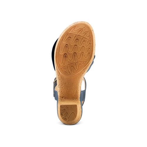 Sandali con fiocco bata-touch-me, blu, 664-9302 - 19