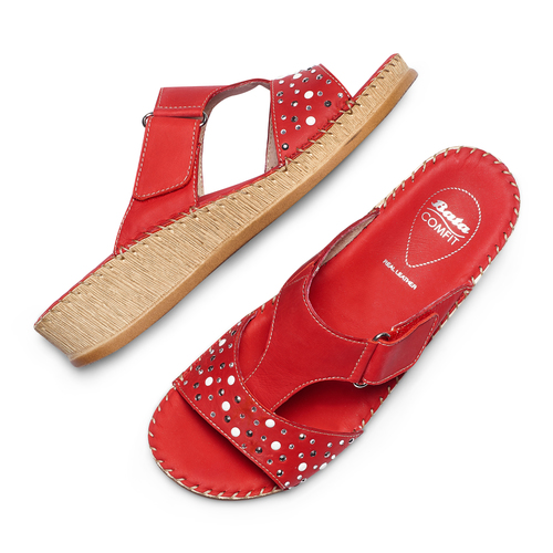 Ciabatte Comfit bata-comfit, rosso, 574-5438 - 26