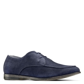 Stringate in suede bata, blu, 853-9160 - 13