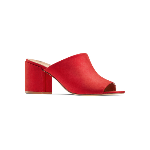 Mules con tacco insolia, rosso, 769-5277 - 13