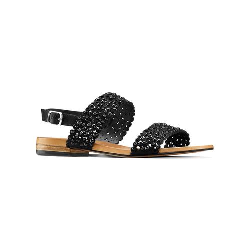 Sandali con strass bata, nero, 569-6256 - 13