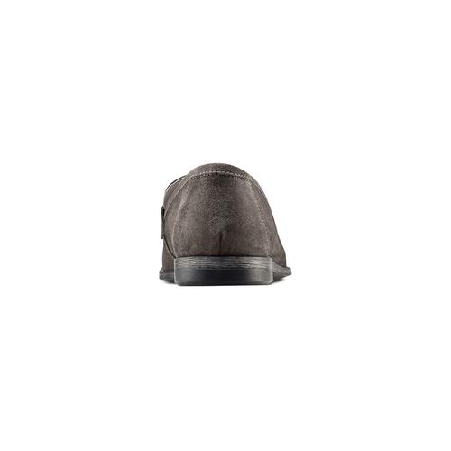 Mocassini in suede bata, grigio, 853-2129 - 15