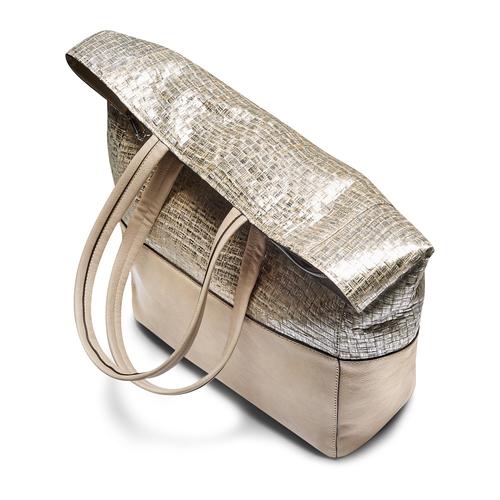 Shopper da donna bata, oro, 969-1214 - 17