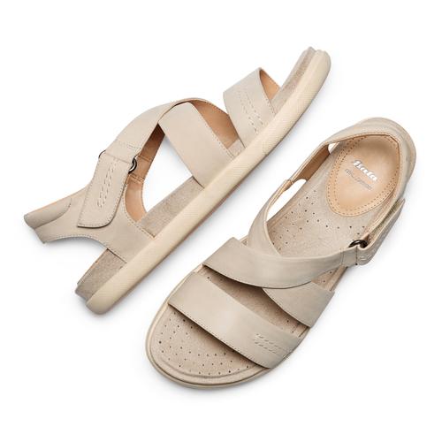 Sandali in pelle bata, beige, 564-4351 - 26
