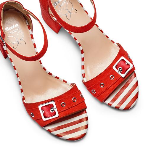 Sandali con tacco largo insolia, rosso, 769-5245 - 26