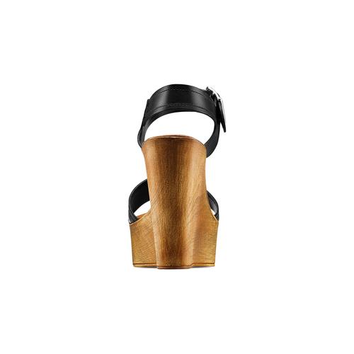 Sandali con zeppa bata, nero, 764-6435 - 15