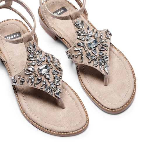 Sandali infradito bata, beige, 569-8205 - 26
