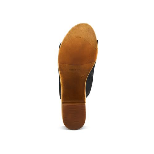 Mule con tacco largo bata, nero, 764-6436 - 19