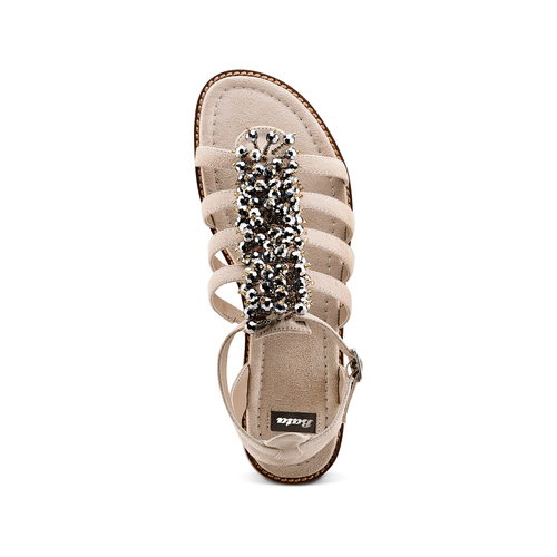 Sandali con perline bata, beige, 569-8206 - 17