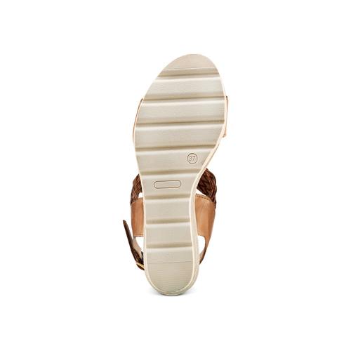 Sandali con motivo intreccio bata-touch-me, marrone, 764-3309 - 19