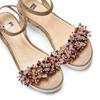 Sandali con applicazioni multicolore bata, beige, 669-8283 - 26