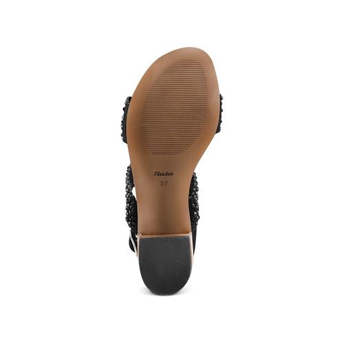 Sandali con strass bata, nero, 669-6280 - 19