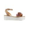 Sandali con applicazioni multicolore bata, beige, 669-8283 - 13