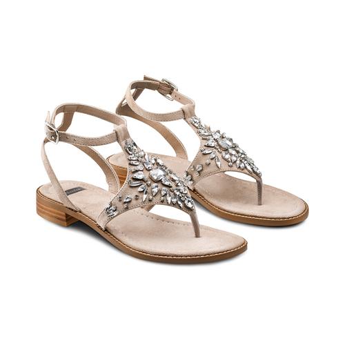 Sandali infradito bata, beige, 569-8205 - 16