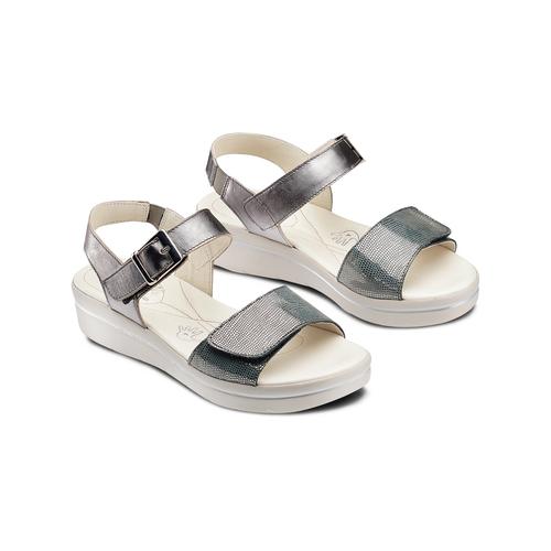 Sandali da donna bata-touch-me, argento, 564-2354 - 16