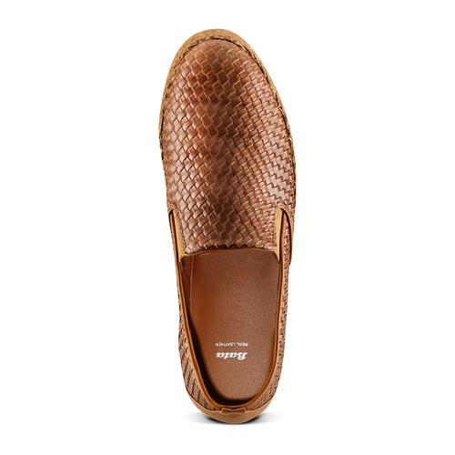 Slip on da uomo bata, marrone, 851-3187 - 17