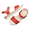 Sandali in pelle bata-touch-me, rosso, 664-5298 - 26
