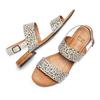 Sandali con strass bata, grigio, 569-2256 - 26