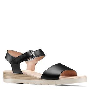 Sandali in pelle bata-touch-me, nero, 664-6298 - 13