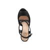 Sandali con zeppa insolia, nero, 769-6255 - 17